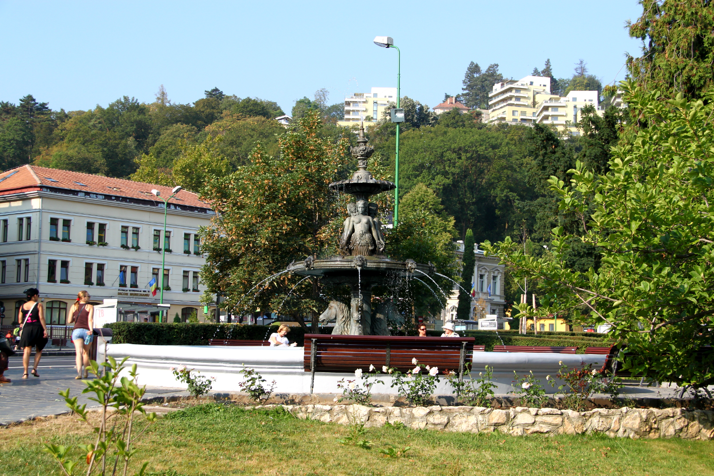 A beautiful fountain in Brasov, Romania