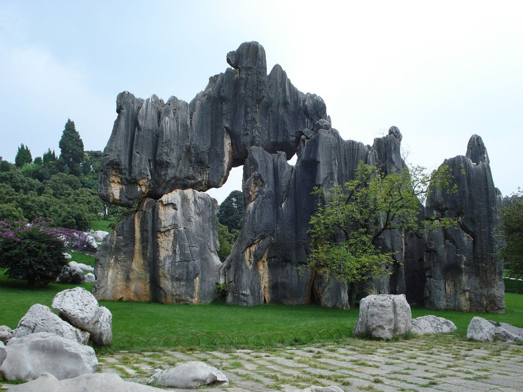 Stone Forest (Shilin) in China - photo source Wikipedia