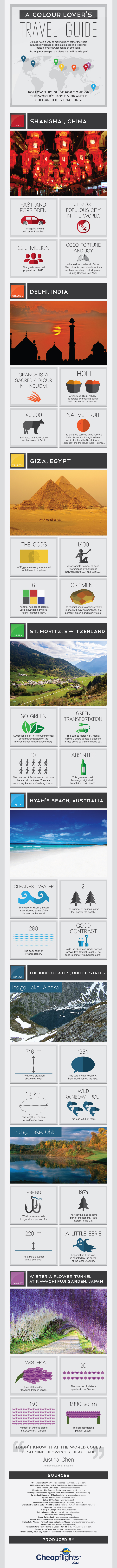 A Travel Guide for Colour Lovers #Infographic