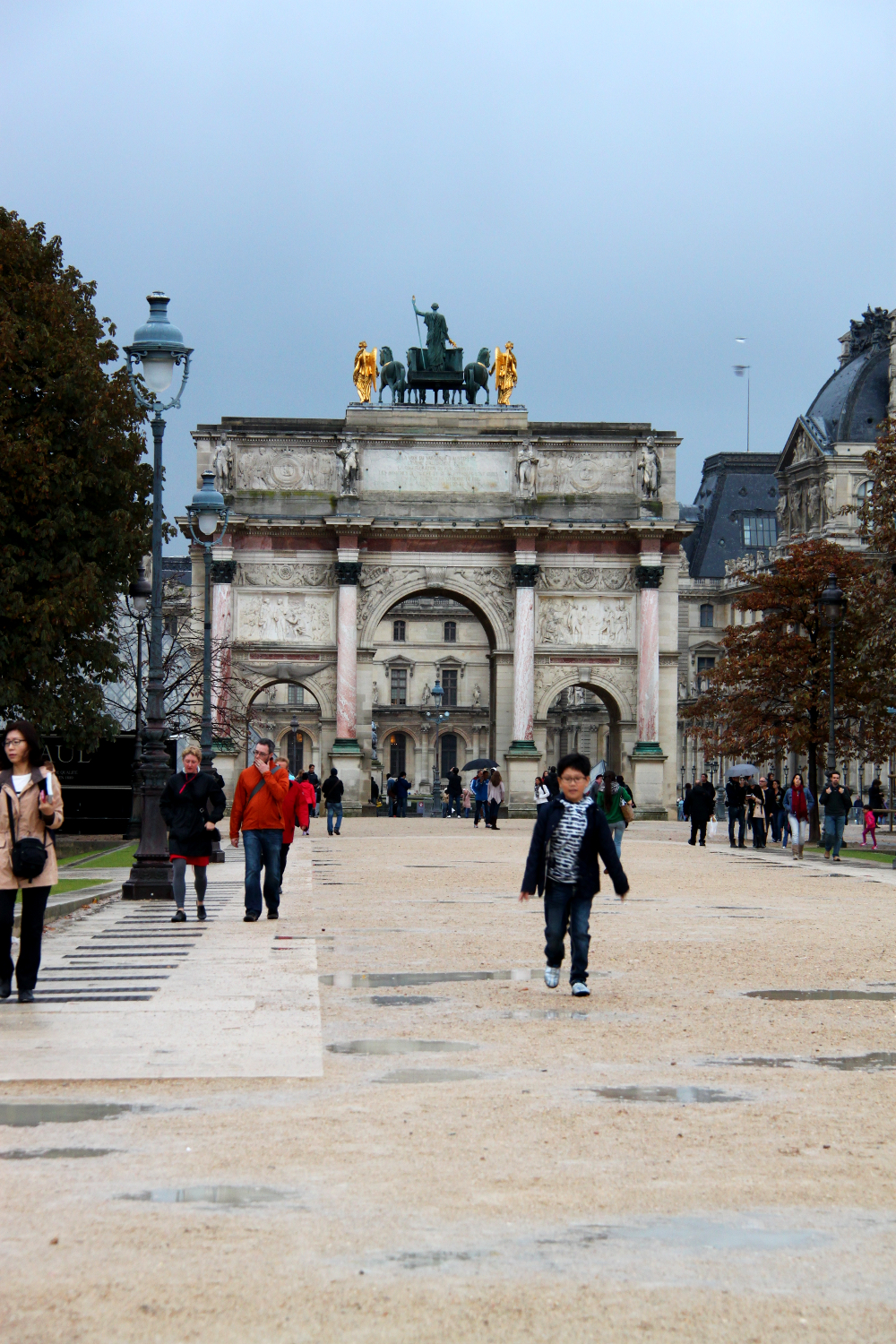 The Arc de Triomphe du Carrousel - view from the Tuileries Garden