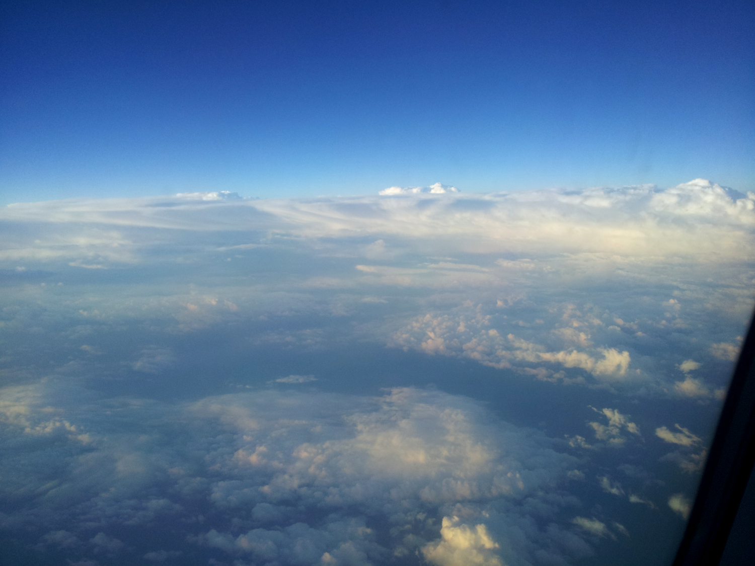 Spectacular view from the airplane
