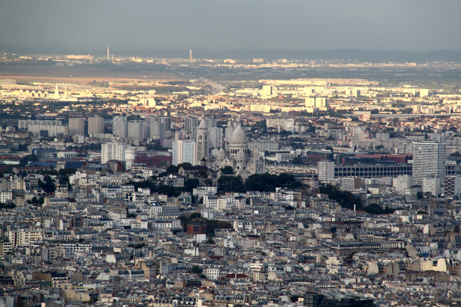 Sacre Coeur seen from the Eiffel Tower