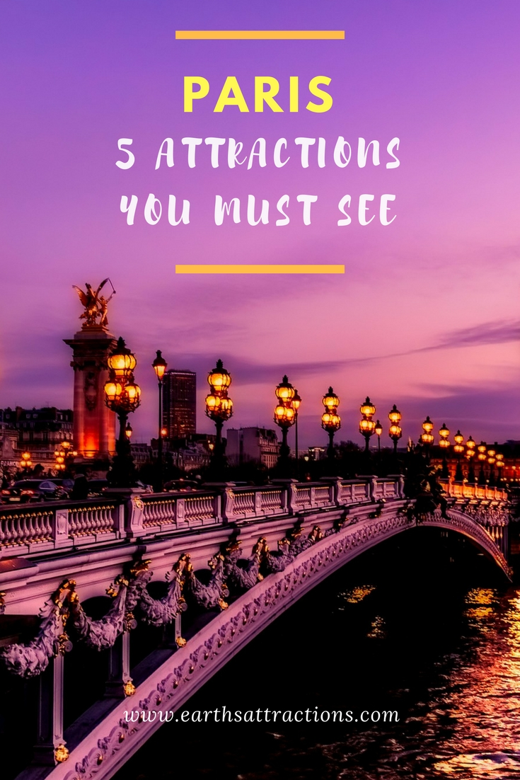 Top 5 attractions in Paris, France; #Paris #attractions; what to see in Paris, Paris guide; my 5 favourite spots in Paris