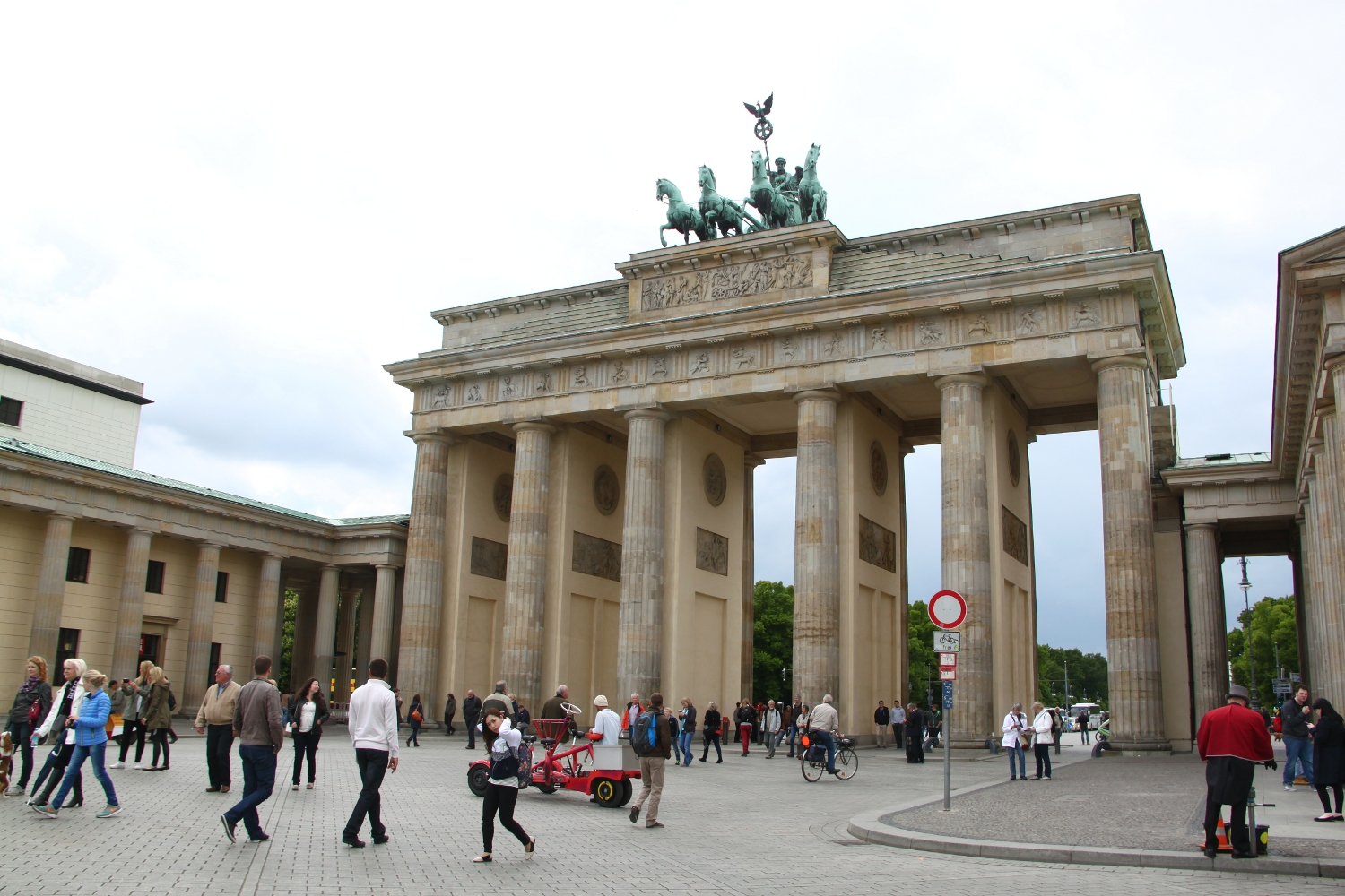 The Brandenburg Gate - front