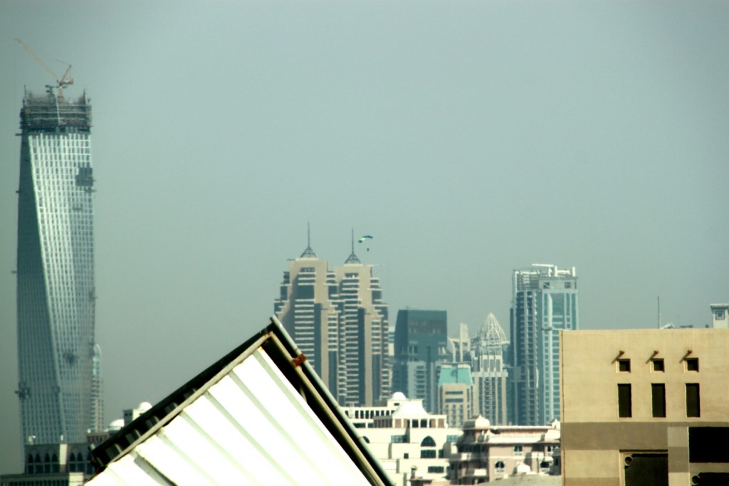 Dubai - check out the paratrooper in the background