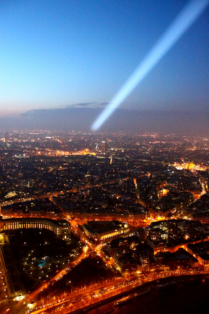 Paris - another view from the Eiffel Tower - with the special flash