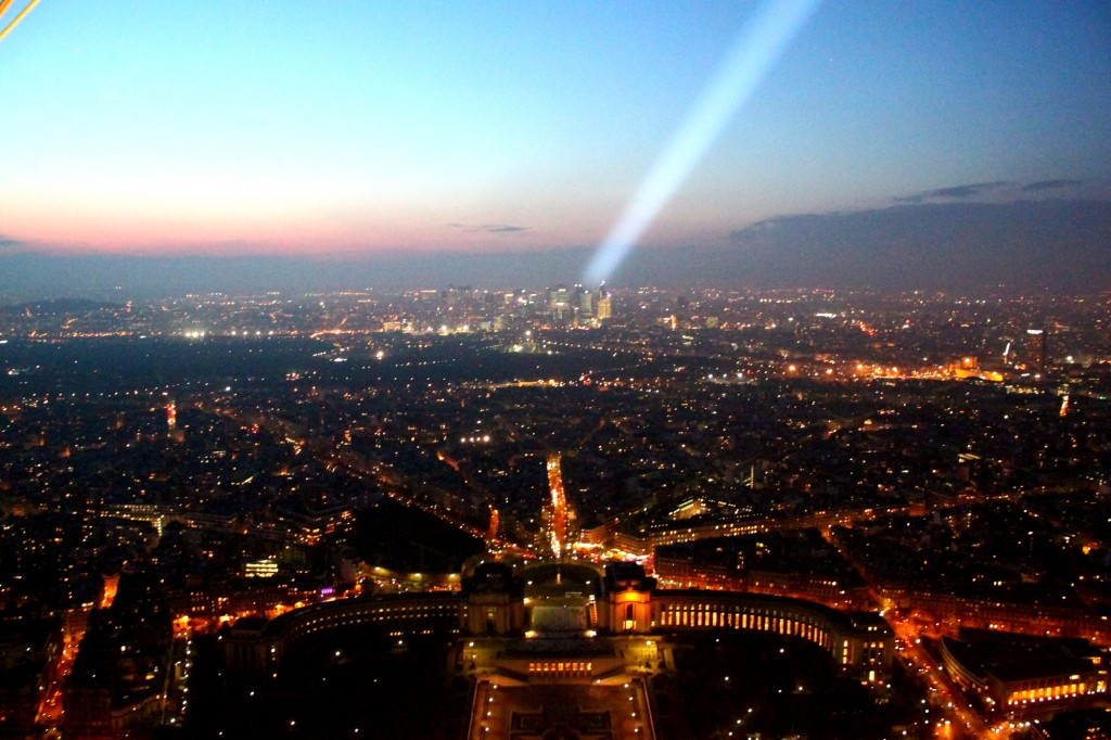 Paris - view from the Eiffel Tower - with the special flash