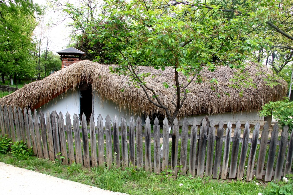 Half buried houses from Romania - lateral view