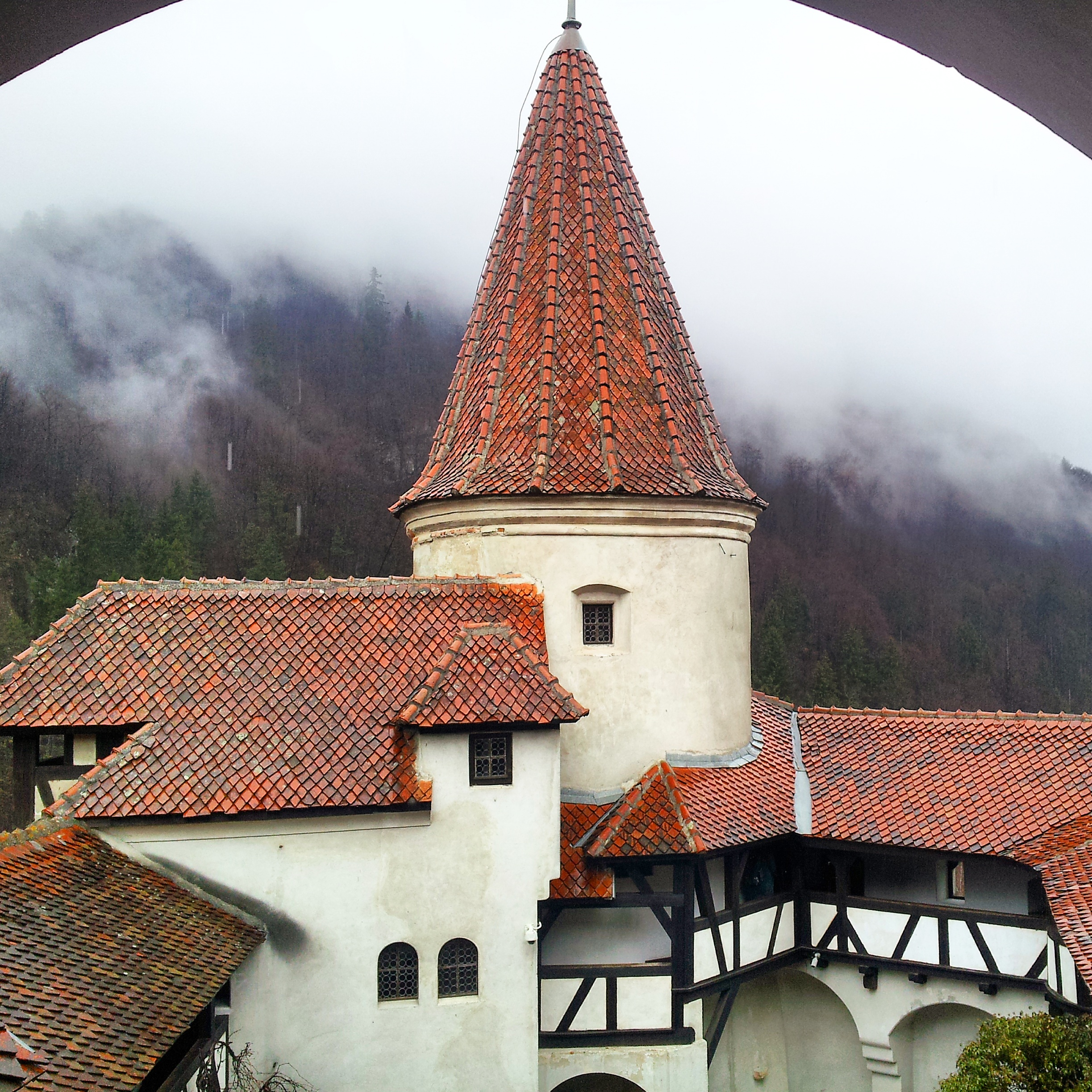 Gorgeous view of the Bran Castle