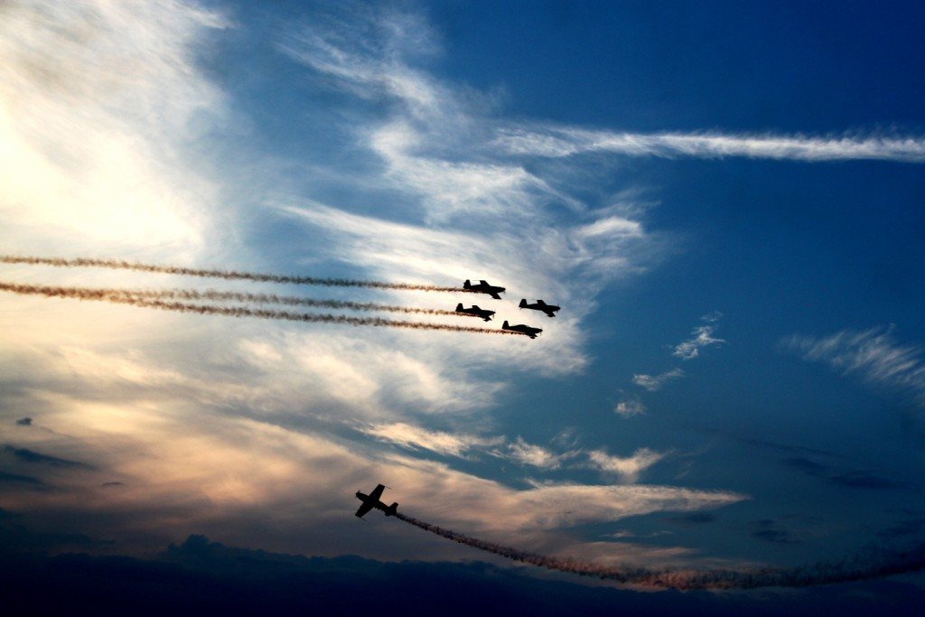BIAS 2015 - Hawks of Romania, Extra 300 -  sunset flight