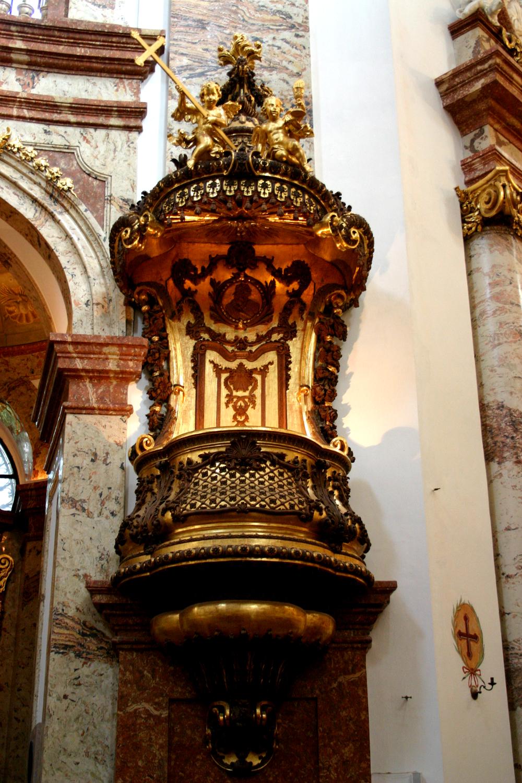 Inside Karlskirche in Vienna