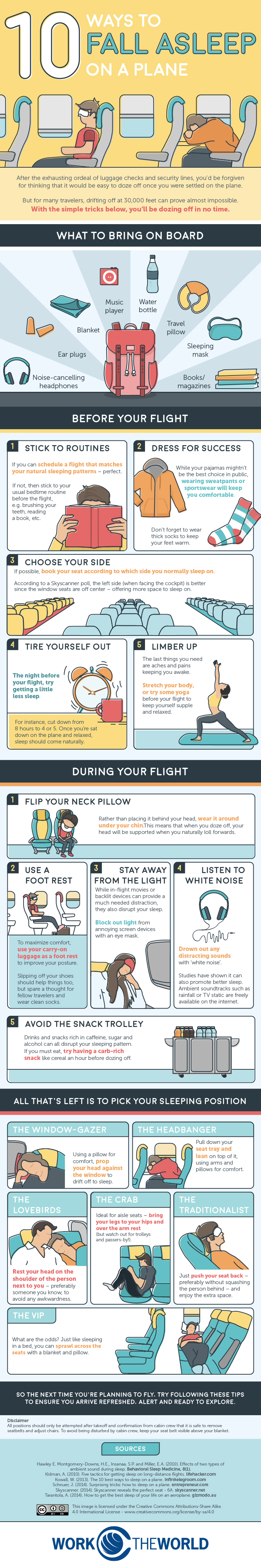 How to fall asleep on an airplane #infographic