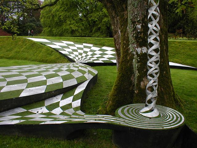 The Black Hole, The #Garden of Cosmic Speculation, a wonder of #Scotland near Dumfries
