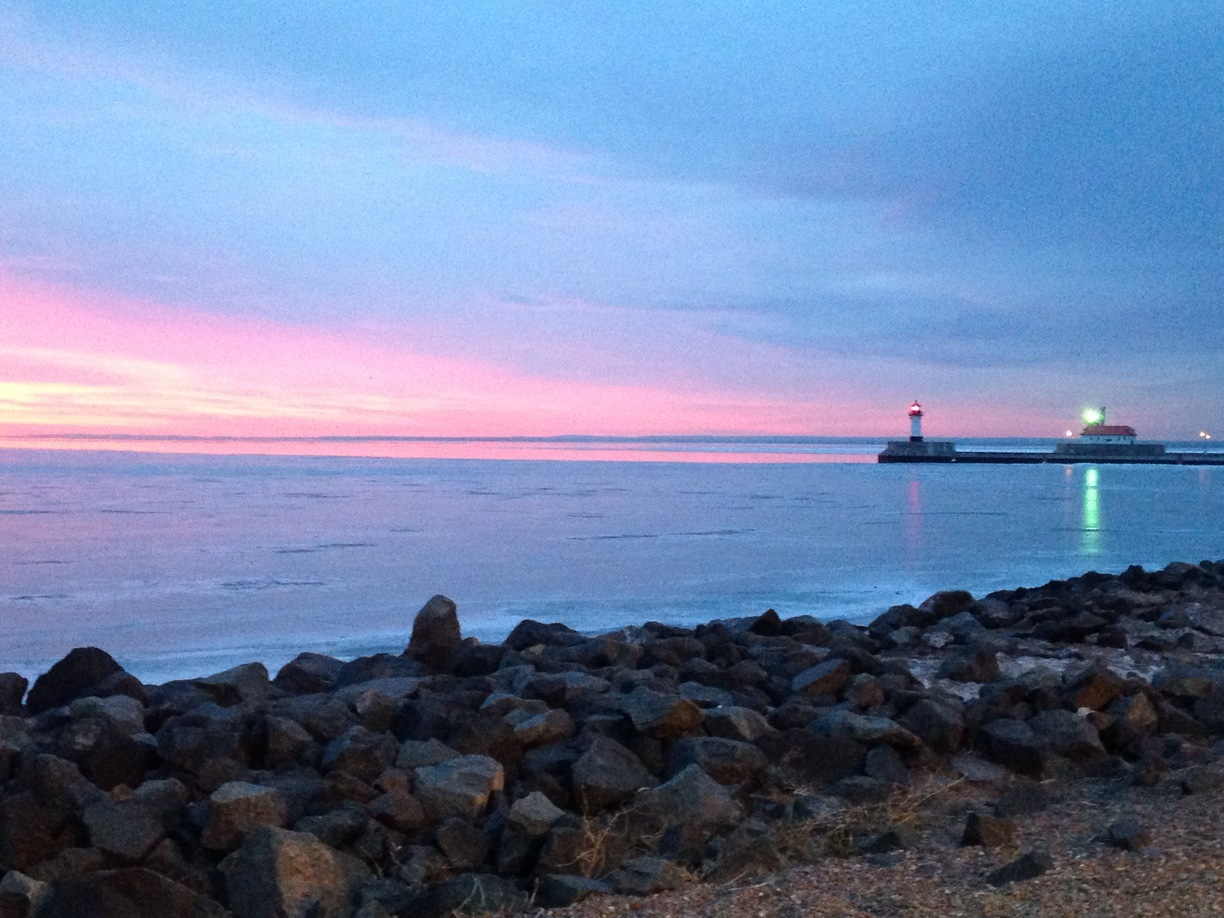 #Duluth, #USA - Lake Superior sunrise