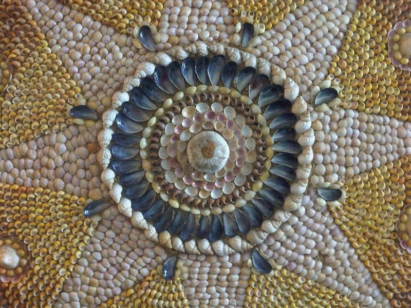 The Shell Grotto (UK) is a subterranean passageway with walls decorated with 4.6 million seashells