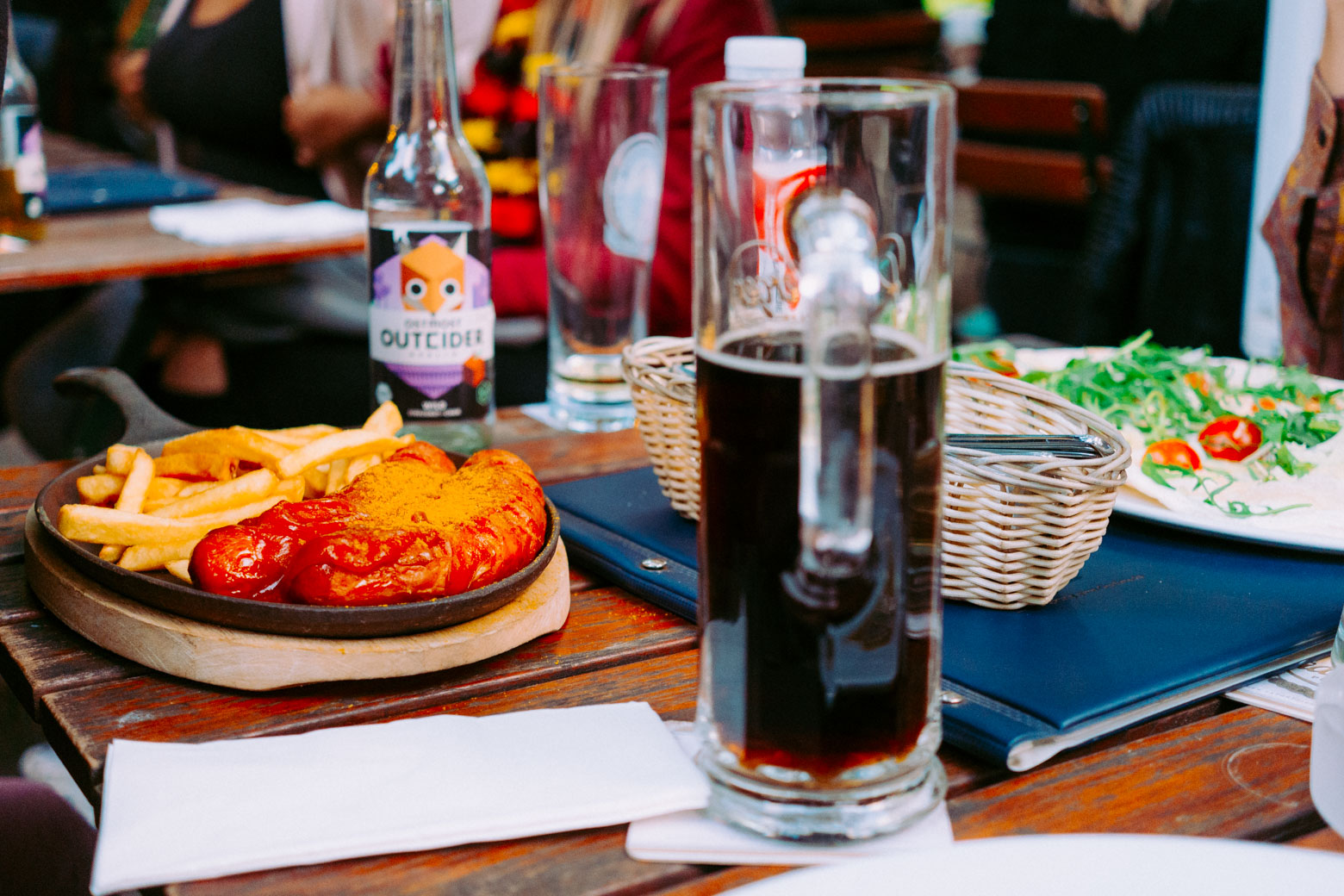 Practically any beer garden will have currywurst on hand