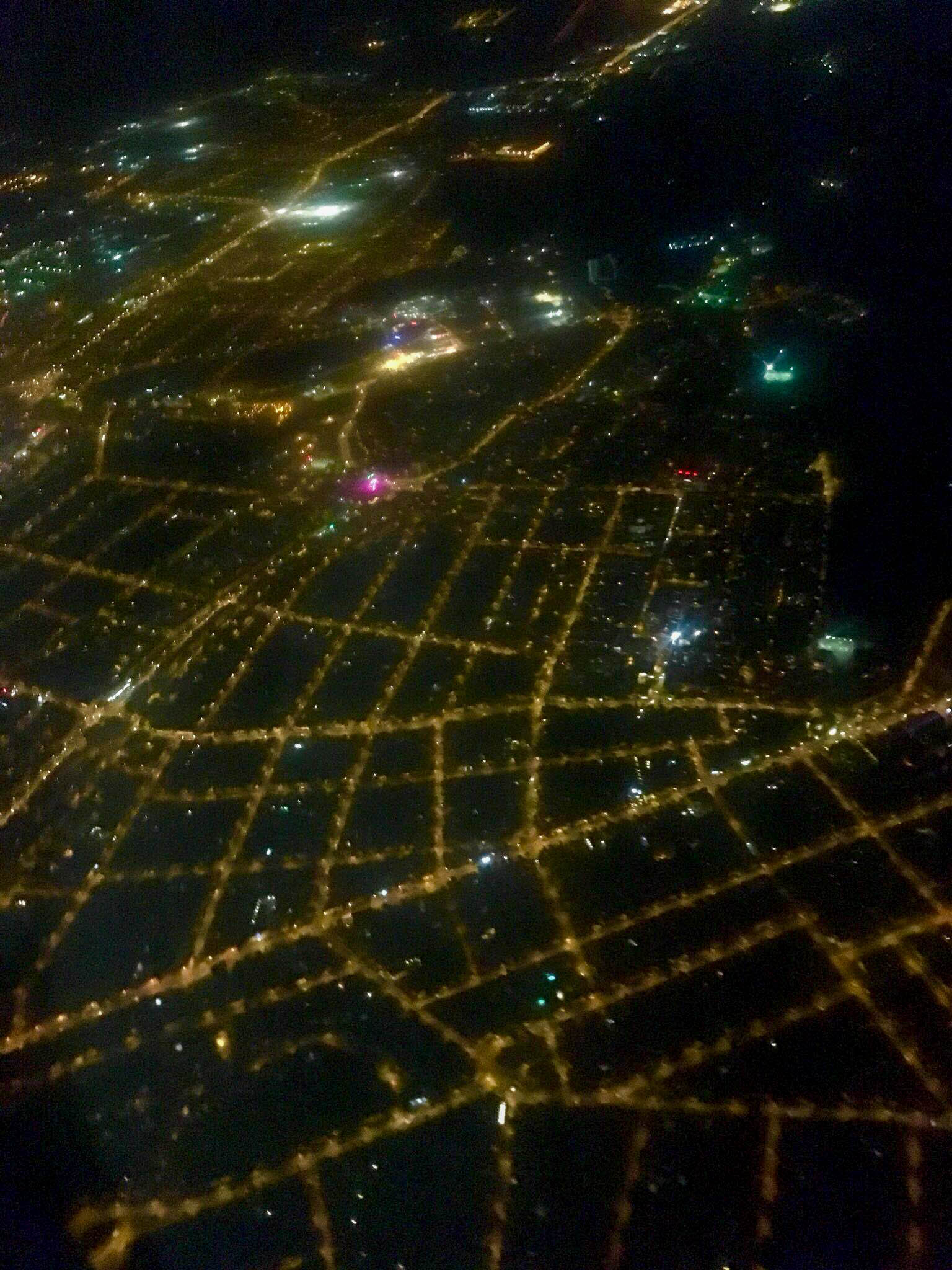 Cityscape from the plane - Cluj at night - A complete travel guide to Cluj-Napoca