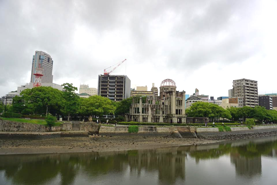 City view of the A-bomb Dome - A complete travel guide to Hiroshima