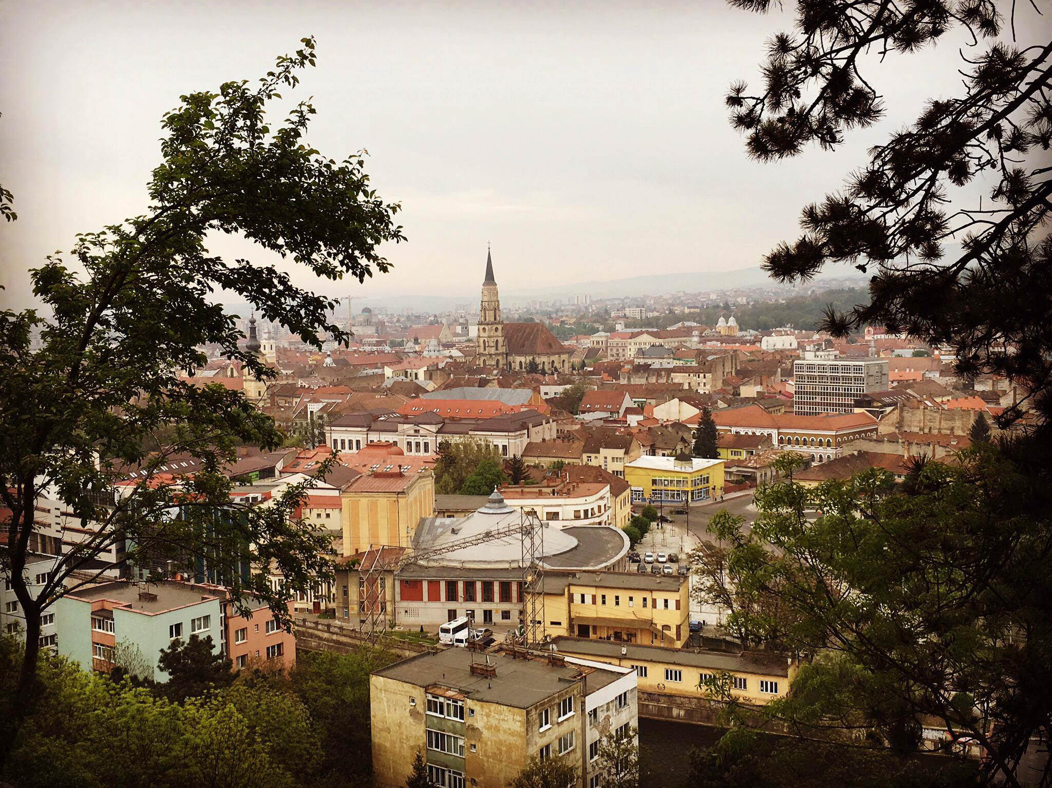 View of St Michael's Church from Cetatuia Hill - A complete travel guide to Cluj-Napoca