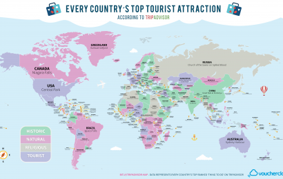 Top tourist attraction of every country (with maps)