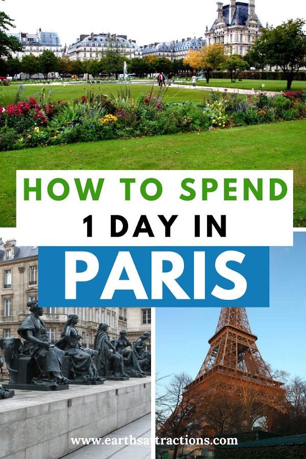 Wondering how to spend 1 day in Paris, France? Read this itinerary for one day in Paris now and discover the best things to do in Paris in 24 hours. Top landmarks in Paris are included as well as useful Paris tips. All you need to know about what to do in Paris in one day! #paris #france #paristips #paristravel #parisitinerary #parisguide #travelguide #traveldestinations #traveltips #earthsattractions