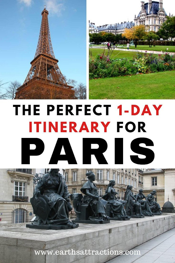 The perfect 1-day itinerary for Paris. Discover what to do in Paris in one day. The best places to visit in Paris in 24 hours are included in this Paris 1-day itinerary! Discover the things to do in Paris in 1 day now. #paris #france #paristips #paristravel #parisitinerary #parisguide #travelguide #traveldestinations #traveltips #earthsattractions