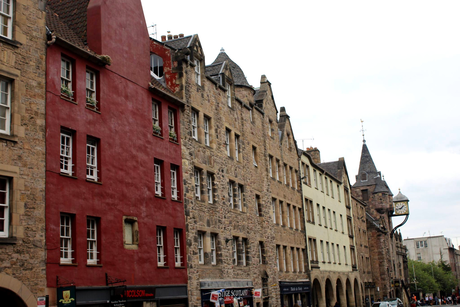 The Royal Mile, one of the top Edinburgh tourist attractions