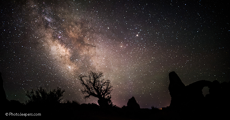 Milky Way Arches National Park Turret Arch Moab