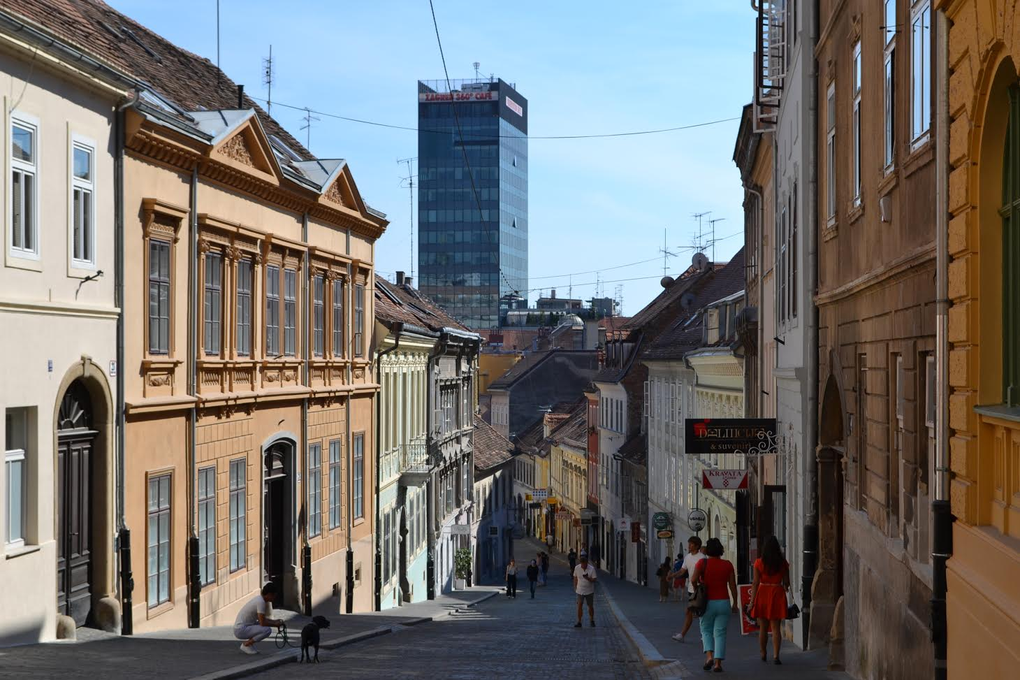 Radićeva street & Zagreb Eye