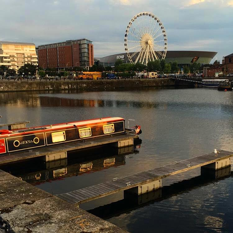 Liverpool's Albert Dock just before sunset