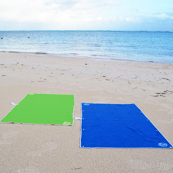 Take a microfiber beach towel to the beach, they same space, are light to carry, and dry fast!