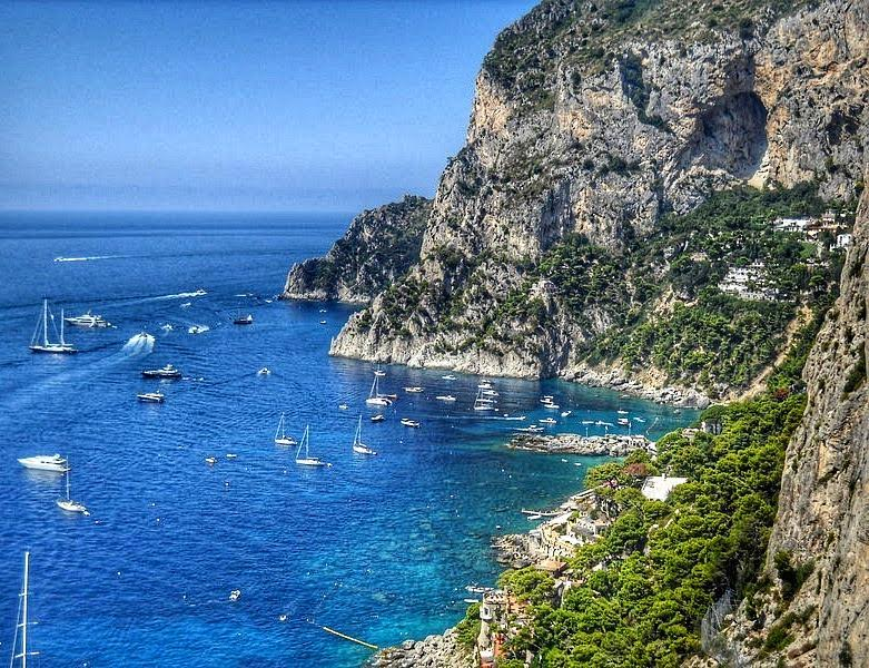 A view from a terrace towards Piccola Marina, a harbour - 10 photos that will make you want to travel to Capri, Italy