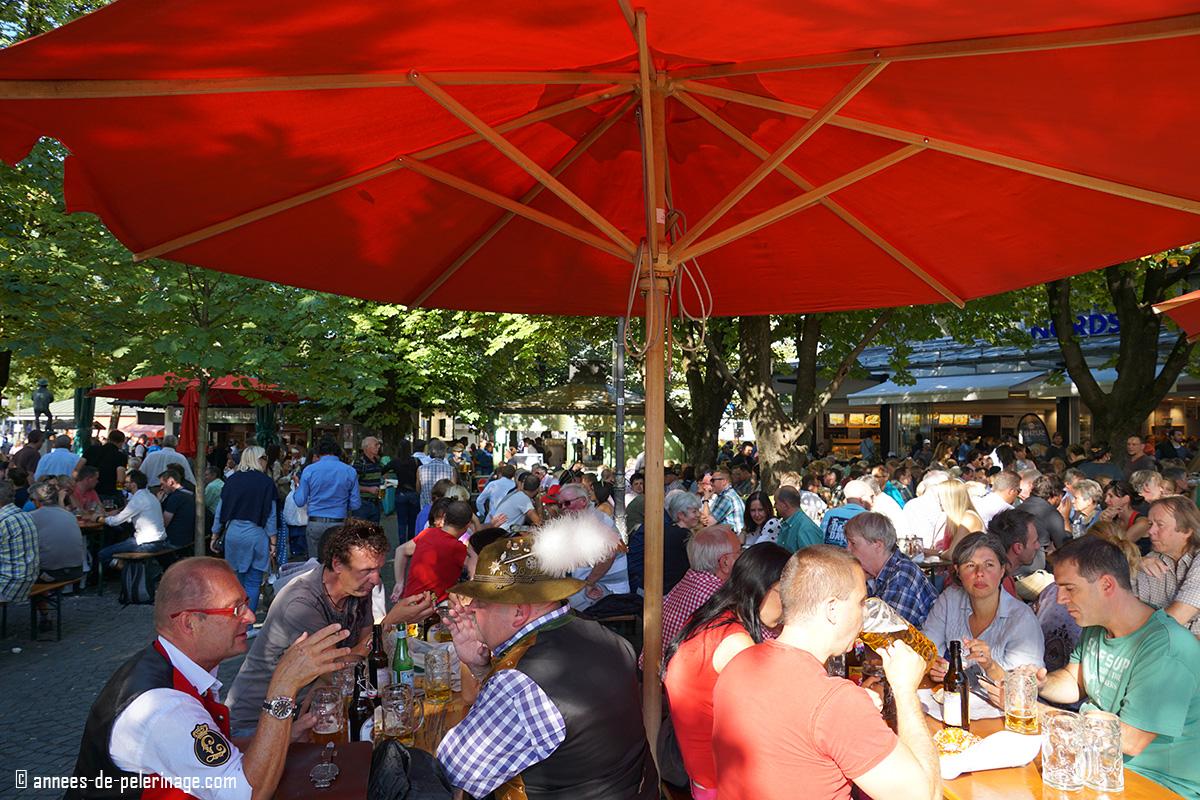 Beergarden at Viktualienmarkt, Munich