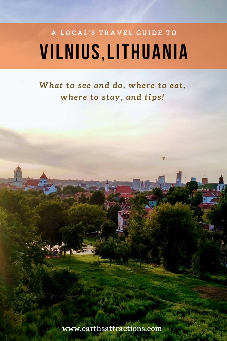 A local's travel guide to Vilnius, Lithuania; Europe travel; Vilnius travel guide; The guide includes the best attractions in Vilnius, off the beaten path things to see and do, places to eat, where to stay, and tips!
