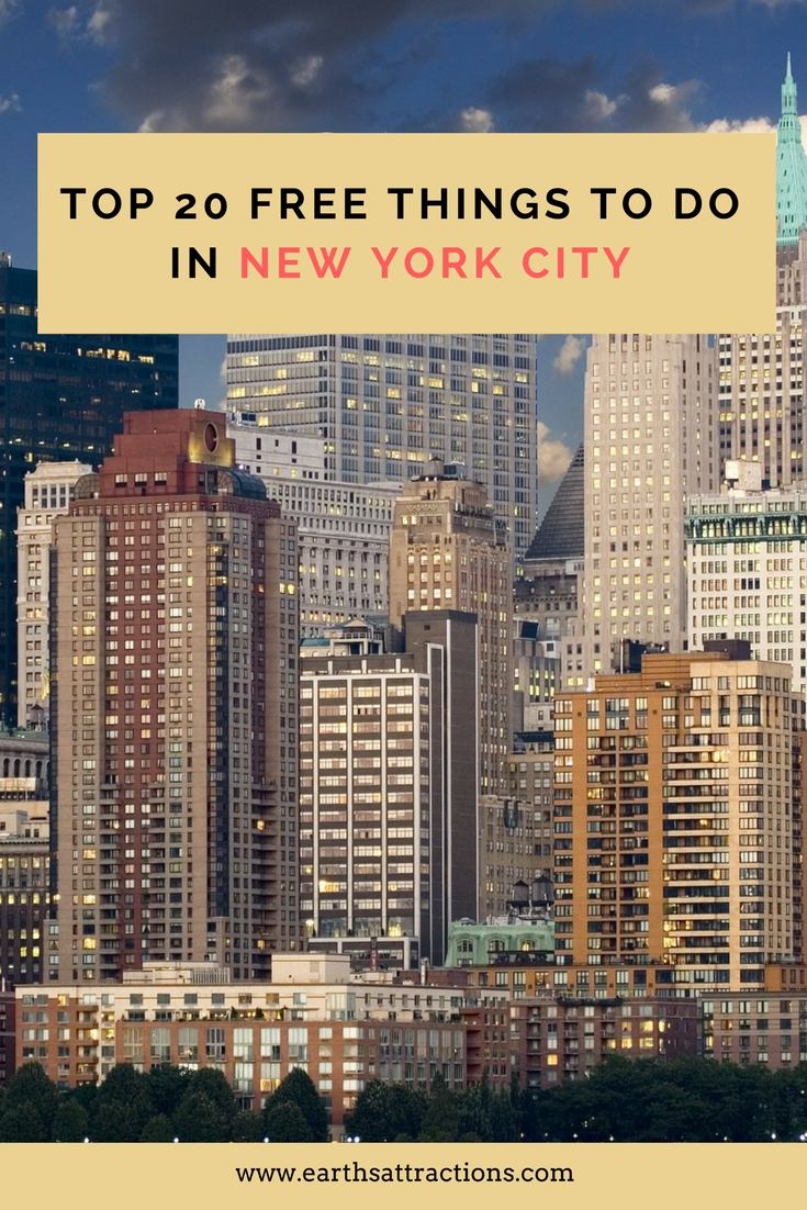 Top 20 free things to do in new york city earth 39 s for Attractions new york city