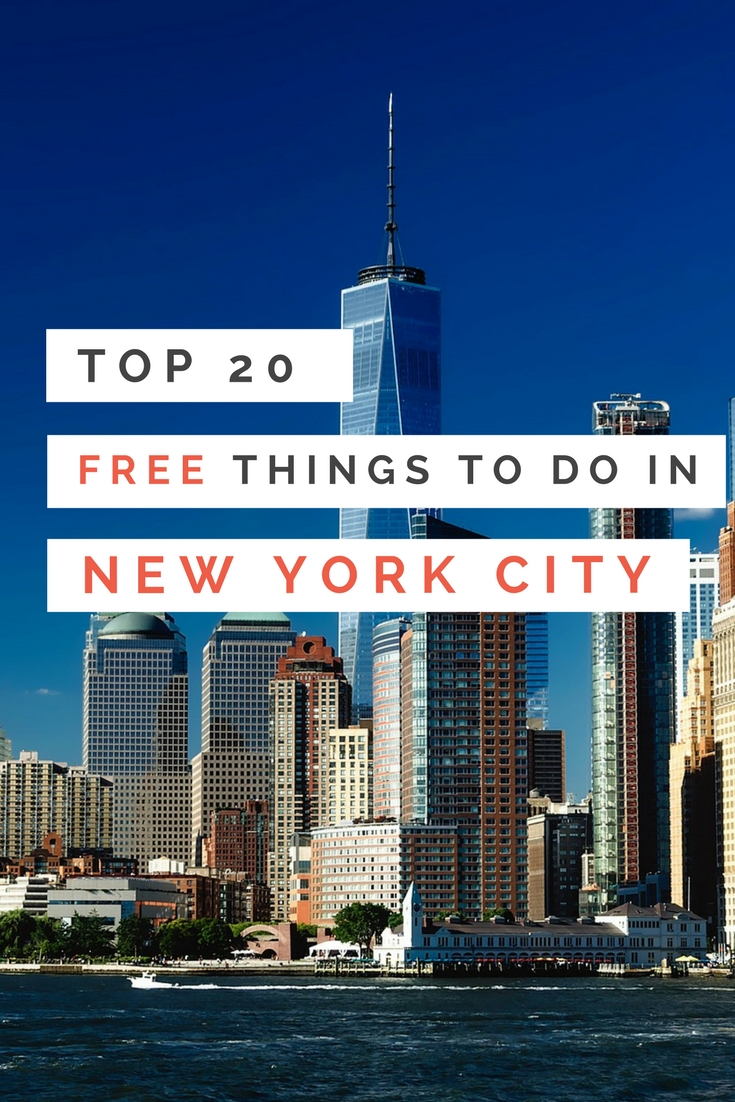 Top 20 free things to do in new york city earth 39 s for Attractions in new york new york