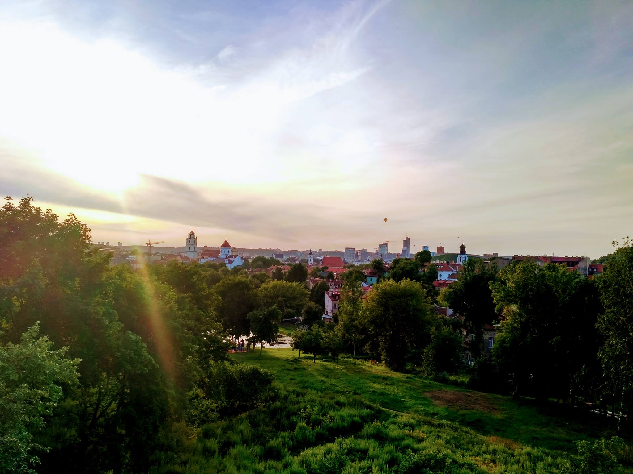 View over Vilnius from Subacius hill