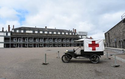 Medical vehicle inside Halifax Citadel National Historic Site