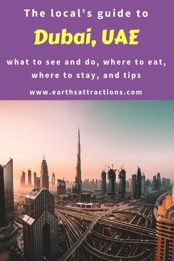 Heading to Dubai, UAE for the first time? Here's your complete Dubai travel guide for first timers. Includes the Dubai tourist attractions, off the beaten path things to do in Dubai, where to eat in Dubai, where to stay in Dubai, and useful Dubai travel tips. Save this pin to your boards. #dubai #dubaiguide #dubaitravelguide #dubaiattractions #dubaithingstodo #travel #uae #dubaitips