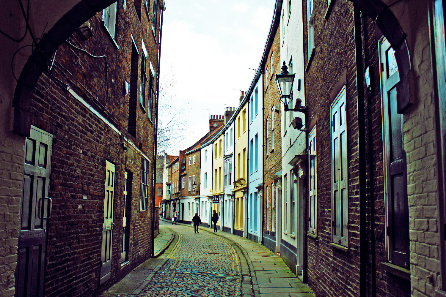 The cobbled streets at Hull's Old Town