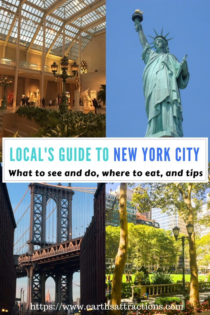 A local's guide to New York City, USA; the guide includes famous attractions, off the beaten path things to see in NYC, what to do in NYC, restaurants in New York City, and tips for #NewYorkCity #NYC #USA #travelguide