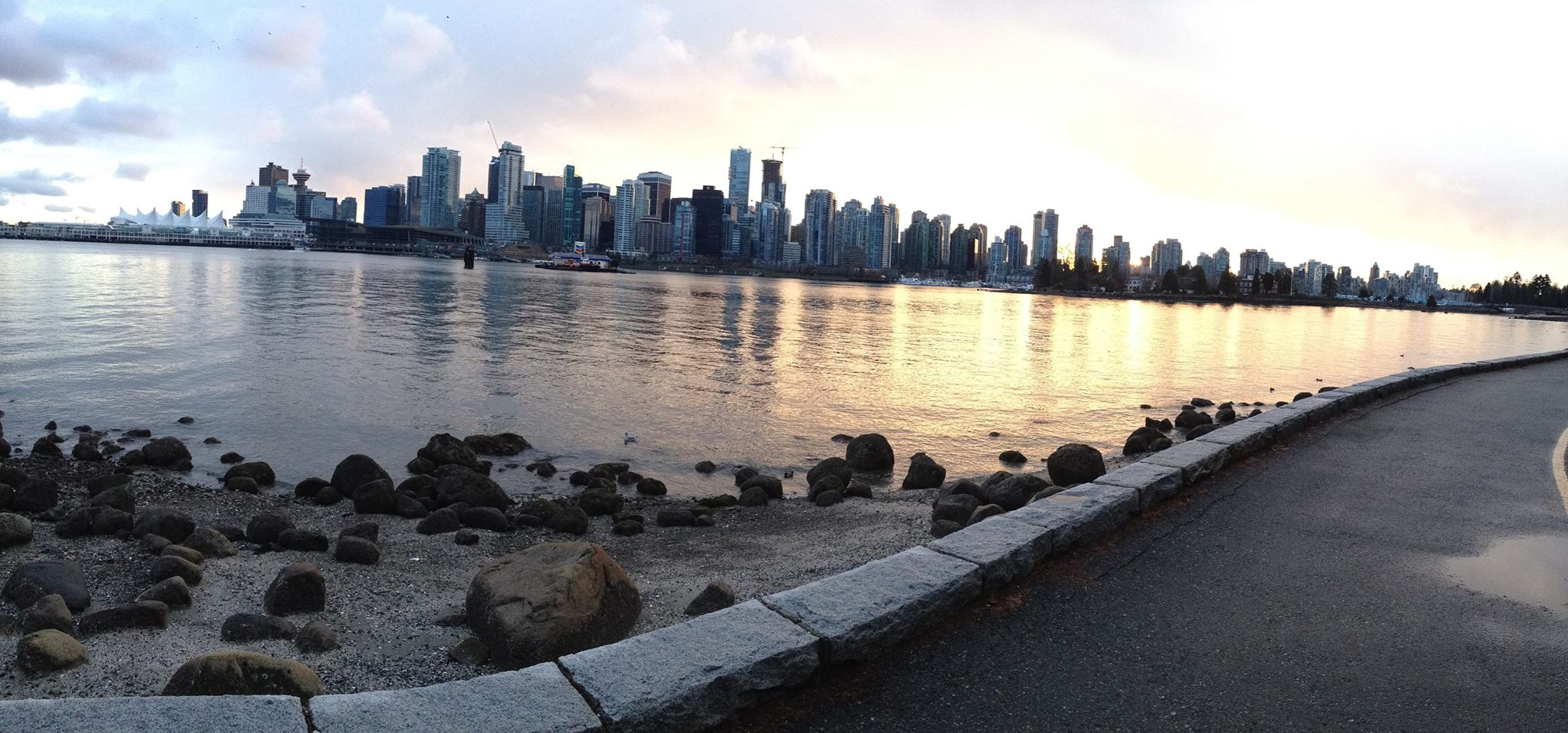 Vancouver skyline seen from Stanley Park
