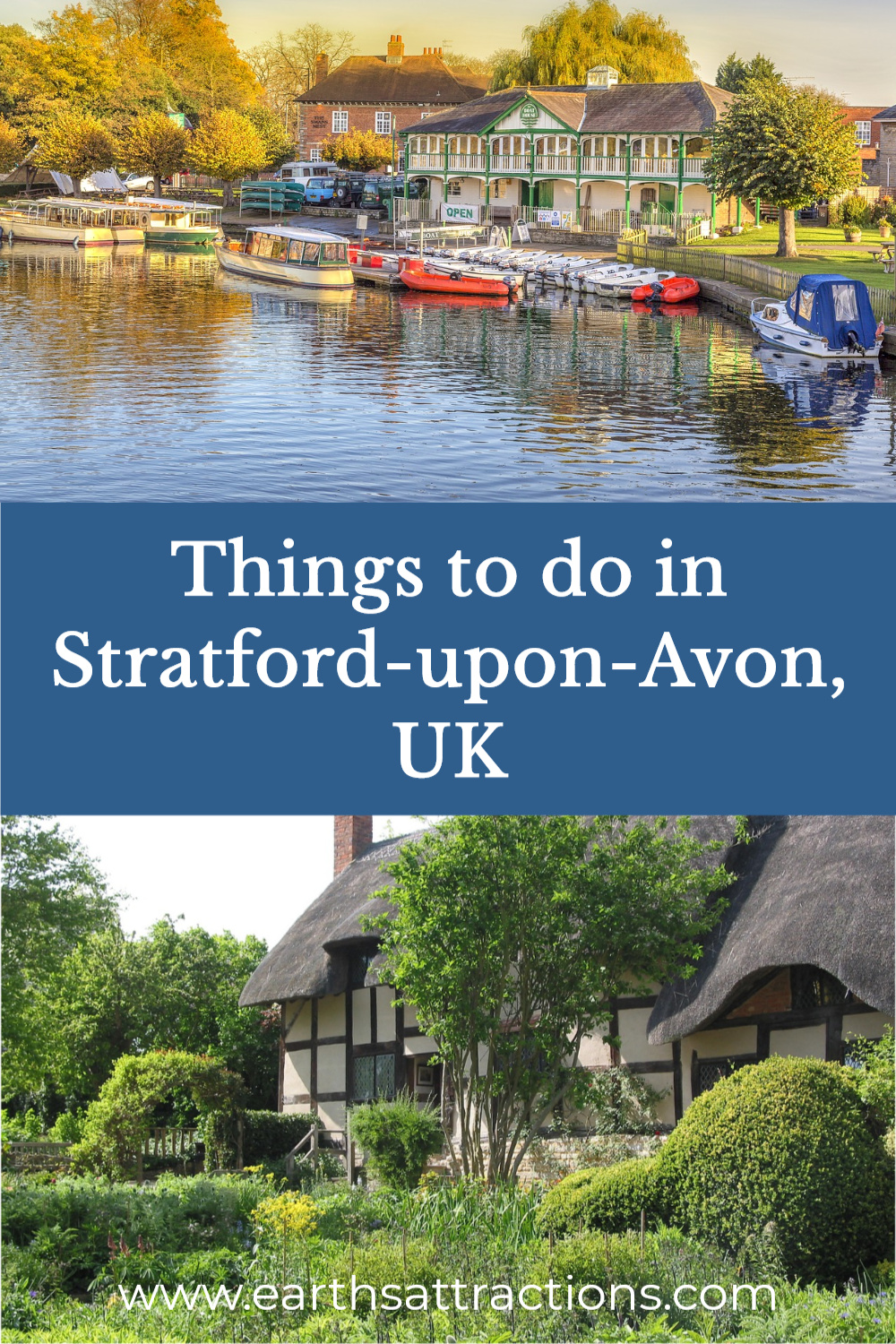 Wonderful Things to Do in Stratford-upon-Avon, England. Read this detailed guide to Shakespeare's Birthplace and discover the best things to do in Stratford Upon Avon, including all of the best Shakespeare sites, a cruise down the river, and off the beaten path Stratford-upon-Avon attractions. Restaurants, tips, and more included to help you plan the best trip to Stratford-upon-Avon. Read this article now and save this pin to your board #stratford #stratforduponavon #uk #warwickshire #uktravel #europetravel #travelguides #traveldestination #smalltown #smalltowntravel #earthsattractions