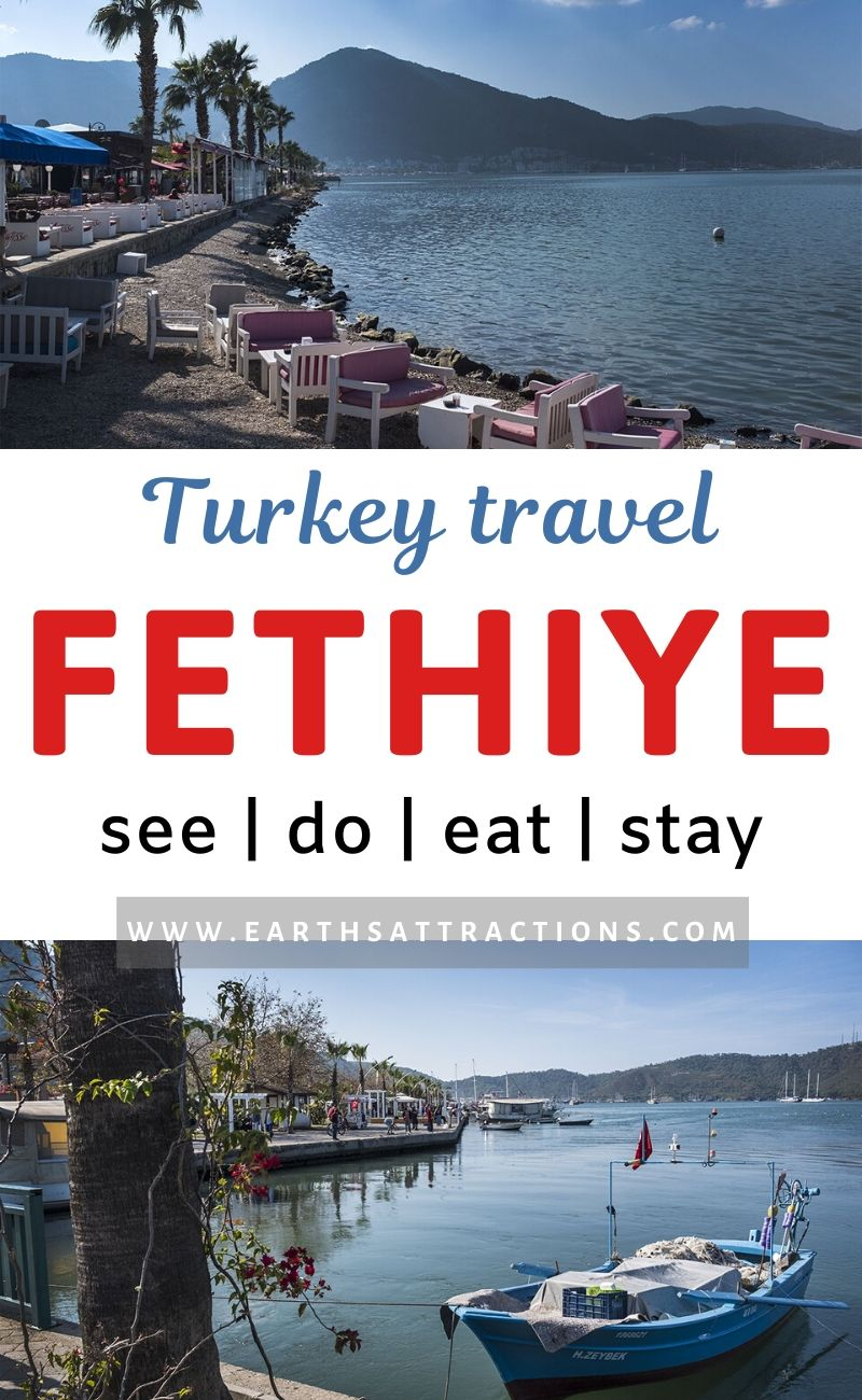 Turkey Travel: the Best things to do in Fethiye, Turkey. Read this comprehensive guide to Fethiye to discover the popular tourist atrractions in Fethiye as well as offbeat things to do in Fethiye. Find out where to stay in Fethiye and where to eat in Fethiye. Read the article now and save this pin for later! #fethiye #fethiyeguide #turkey #travelguide #thingstodo #fethiyethingstodo #earthsattractions
