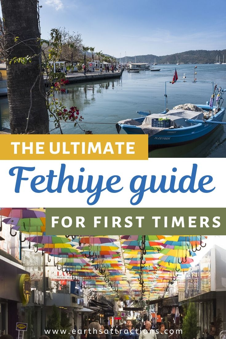 The ultimate Fethiye guide for first-timers. Discover what to do in Fethiye, Turkey from this Fethiye travel guide. The best Fethiye attractions, off the beaten path things to do in Fethiye, great Fethiye restaurants and Fethiye hotels are included. Read the guide to Fethiye now and save this pin for later inspiration! #fethiye #fethiyeguide #turkey #travelguide #thingstodo #fethiyethingstodo #earthsattractions