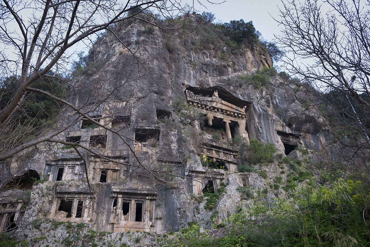 Fethiye: More rock tombs next to the Tomb of Amynthas