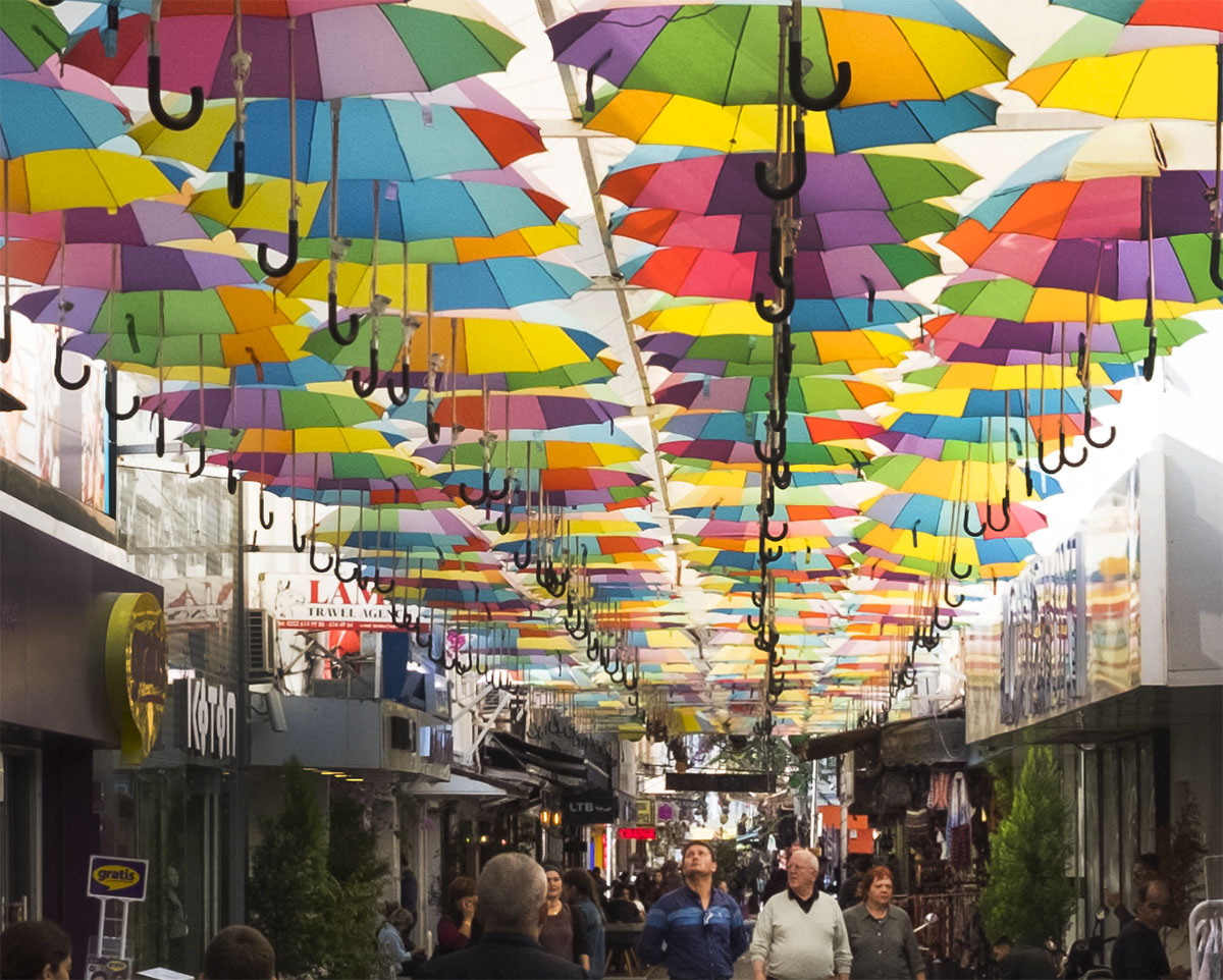 Paşpatur - Old Town - Umbrella Street is one of the cool places to visit in Fethiye, Turkey