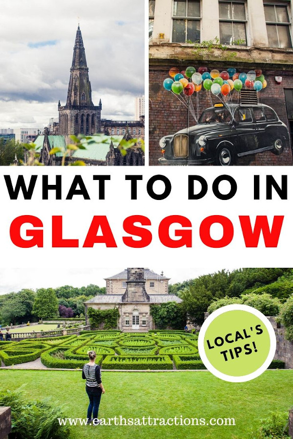 What to do in Glasgow, Scotland. This insider guide to Glasgow includes the tourist attractions in Glasgow as well as off the beaten path things to do in Glasgow, wonderful Glasgow hotels, cool Glasgow restaurants, and useful tips for visiting Glasgow. #glasgow #travelguide #scotland #glasgowthingstodo #traveldestinations #europe #earthsattractions