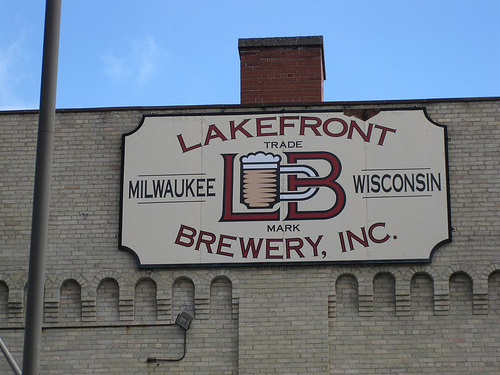 Outside Lakefront Brewery.