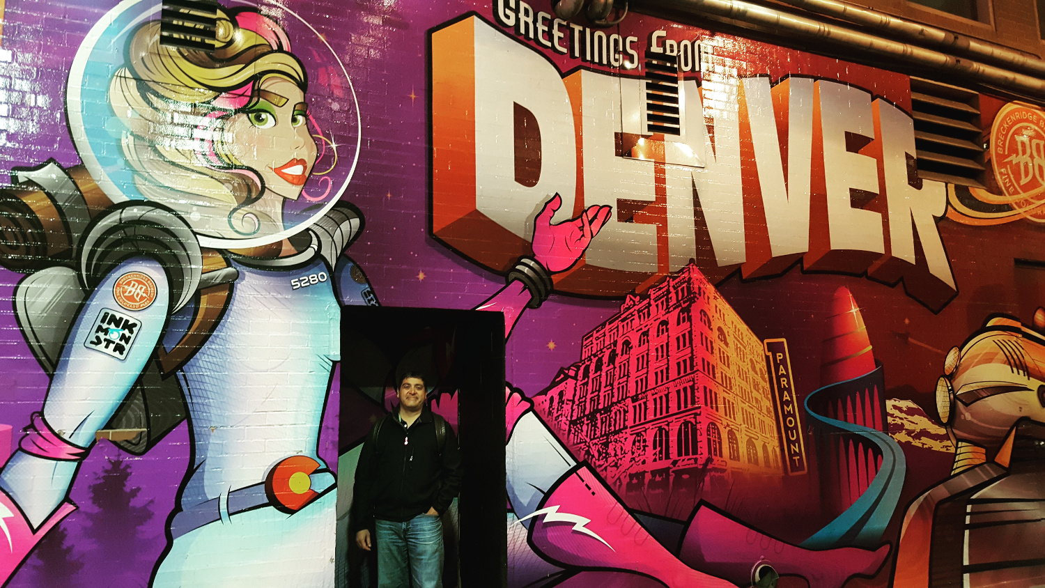 Denver Mural off the 16th Street Mall with David - a resident's guide to Denver